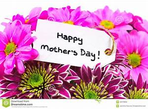 Mothers Day Flowers With Tag Stock Photo - Image: 39478660
