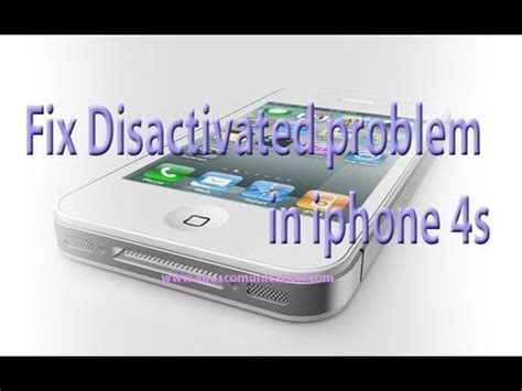 iphone 4s disabled iphone 5 4s 4 disabled disactivated problem fixing