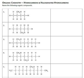 Hydrocarbons Worksheet Rcnschool