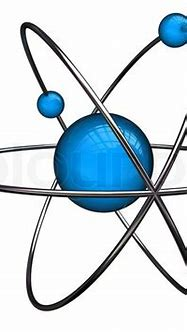 Abstract 3d illustration of atom structure over white ...