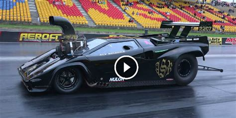 supercharged lamborghini  drag car  craziest vehicle