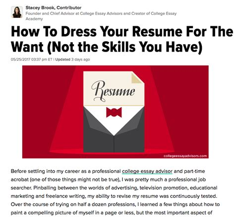 how to dress your resume for success cea s founder gives