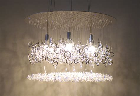 Large Modern Dining Room Light Fixtures by Lather Up Swarovski Crystal Chandelier By Water Pressure