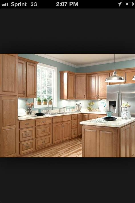 oak cabinets blue walls kitchen wall colors kitchen