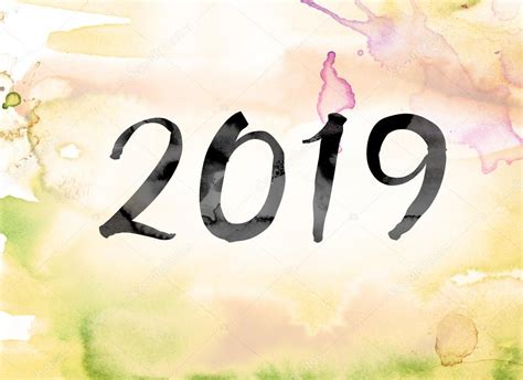 2019 Colorful Watercolor And Ink Word Art
