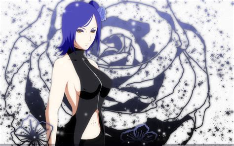 konan anime flowers blue hair wallpapers hd desktop