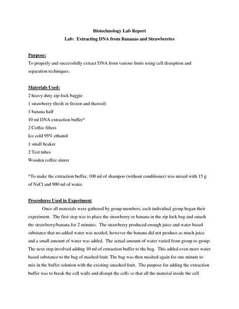 dna extraction lab report 13 best images of strawberry dna extraction worksheet