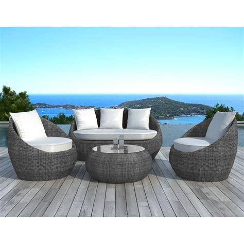 table chaise jardin resine tressee salon de jardin en résine tressée 5 places http