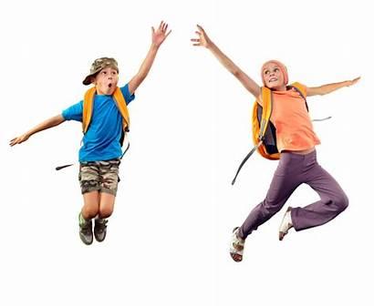 Jumping Children Something Reaching Motion Movement Reach