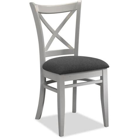repeindre chaise en bois lot de 4 chaises tissus gris et bois blanc achat vente