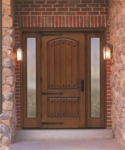 therma tru door rustic collection home construction