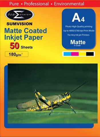sumvision  gsm matt  paper  packs  sheets