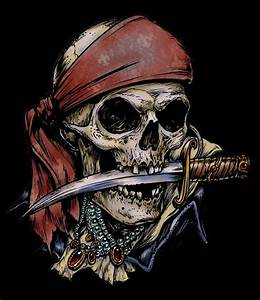 Pirate Skull Knife in Mouth T-Shirt, D-4087 eBay