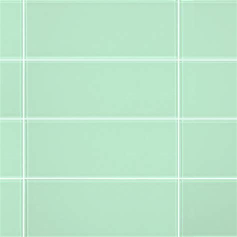 3x8 Light Green Glass Subway Tile
