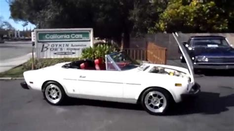 fiat spider white 1978 fiat spyder sold youtube