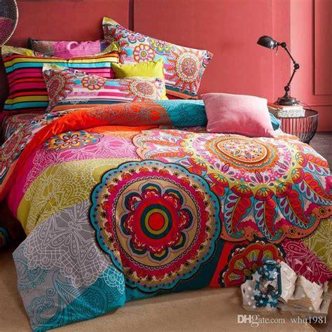 bohemian duvet cover king 100 sanded cotton fabric bohemia boho duvet cover set 4856