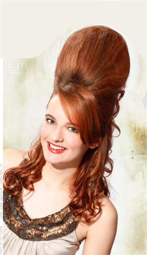 pin  bouffant hairdo