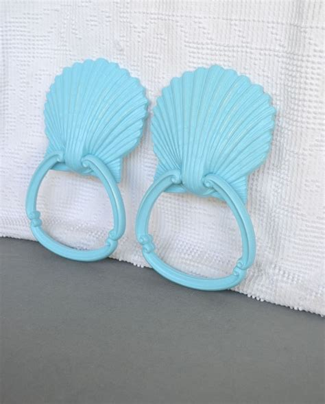 arnold s country kitchen reserved for aqua seashell towel racks 1353