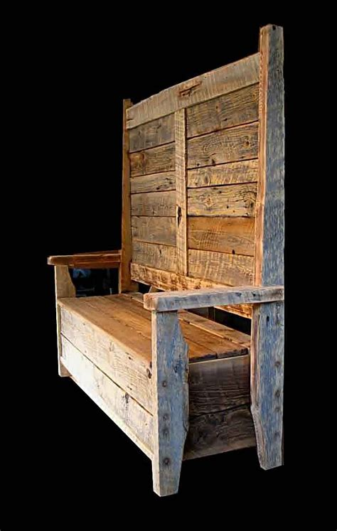 rustic storage bench bench seat with storage and coat rack woodworking