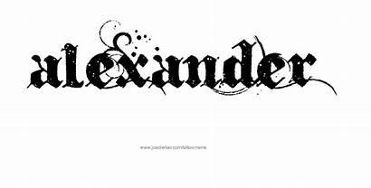 Alexander Tattoo Names Designs Font Joaoleitao Tattoos