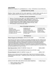 lpn resume with no experience registered practical resume sle resume sles