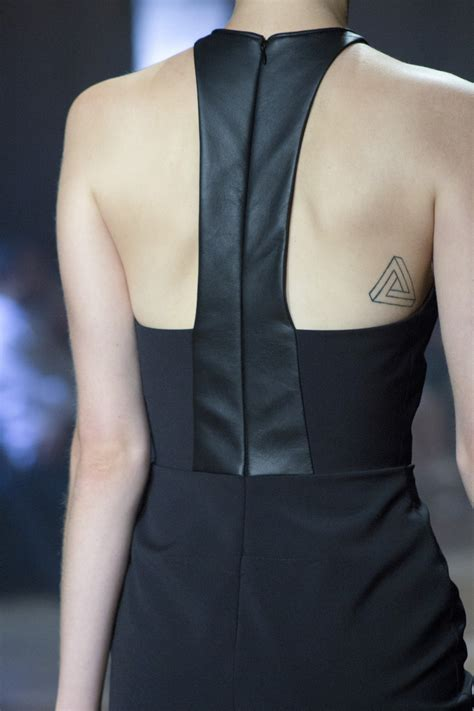 tiny triangle tattoo  backjpg