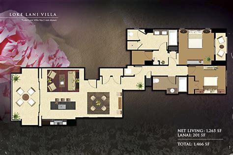floorplans beach villas vacation rentals ko olina