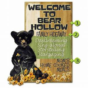 Welcome To Bear Hollow Personalized Sign 28 X 48