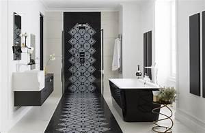 Salle De Bain En L : salle de bains raffinement en noir et blanc styles de bain ~ Melissatoandfro.com Idées de Décoration
