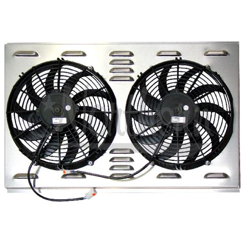 dual electric fans with shroud northern factory dual 12 quot electric fan shroud 17 1 4