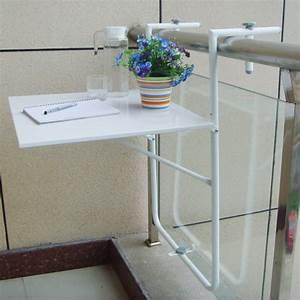 Table De Balcon : table de balcon couleur blanche fixation sur rambarde oogarden france ~ Teatrodelosmanantiales.com Idées de Décoration