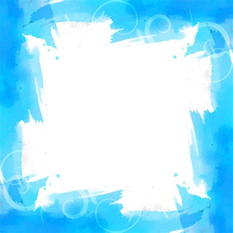 Blue background with watercolor frame Vector