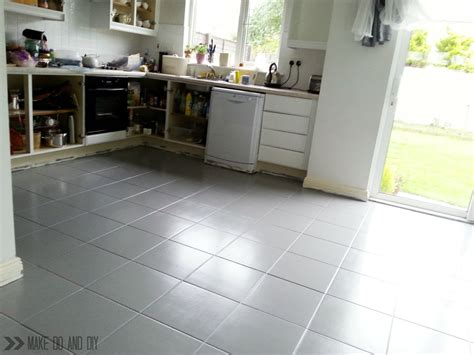 painting tile floors in kitchen painted tile floor no really make do and diy 7367