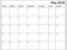 May 2018 Download Calendar