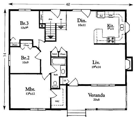 cottage style house plan  beds  baths  sqft
