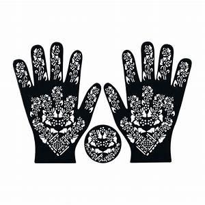 Henna Tattoo Schablonen : henna schablone tattoo hennaschablone hand 3teilig 42 oriental style ~ Frokenaadalensverden.com Haus und Dekorationen