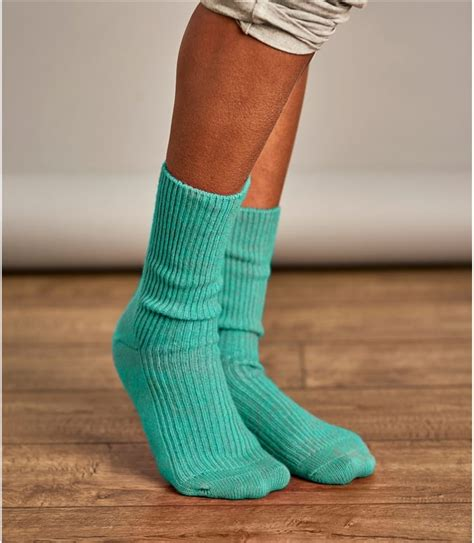 mint marl womens cashmere merino socks woolovers uk