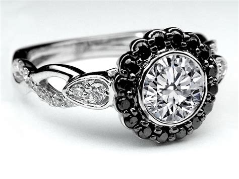black wedding rings with diamonds black gold wedding rings engagement rings black awesome rings gallery diamantbilds