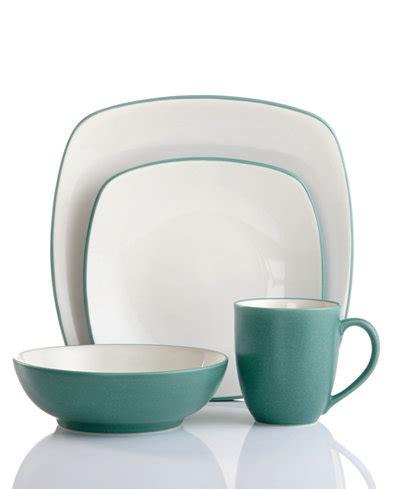 square turquoise dinnerware noritake dinnerware colorwave turquoise square 4 piece place setting dinnerware dining