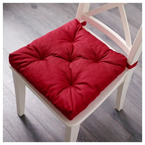 malinda chair cushion red 40 35x38x7 cm ikea