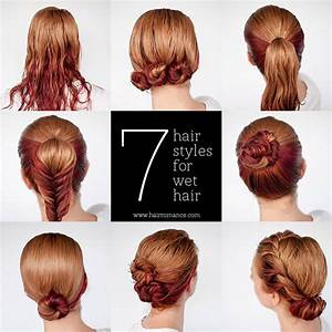 Quick Hairstyle For Wet Hair AllDayChic
