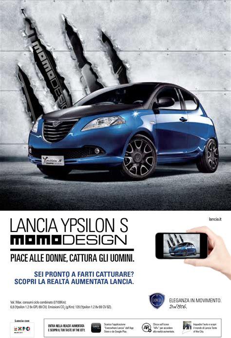 lancia ypsilon  momo design italian advertising lancia