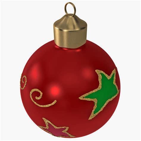 christmas ornament ball 2 3d 3ds