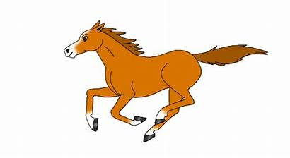 Horse Animated Chestnut Clipart Clip Gold Cliparts