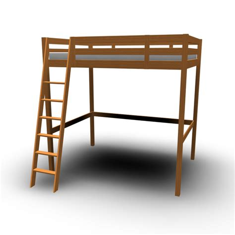 Ikea Loft Bed by Stor 197 Loft Bed Frame Design And Decorate Your Room In 3d