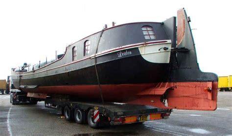 Tjalk on a low loader   dutch barges   Pinterest   Boats