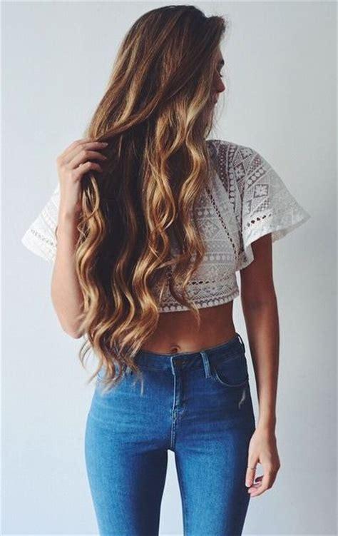 ideas  long wavy hair  pinterest loose