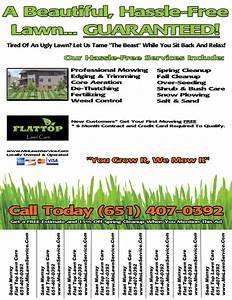 lawn care business flyer lawn care business marketing tips gopherhaul blog With lawn care business flyers