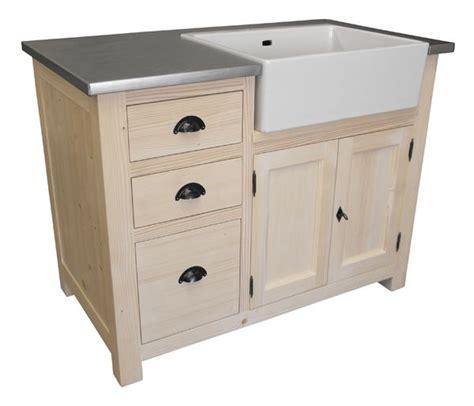 meuble cuisine pin meuble évier 3 tiroirs avec évier inclus en pin massif