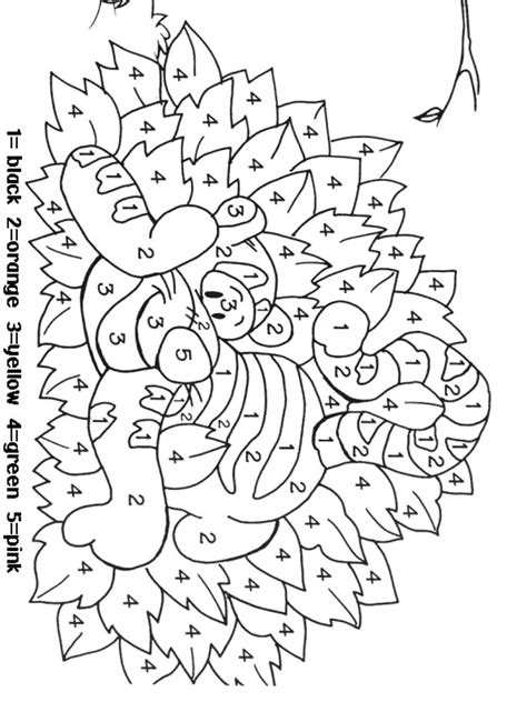 color  numbers coloring pages   print color